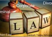 Santosh yadav advocates in corporate criminal and divorce laws
