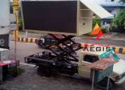 Led video van on rent , led truck , led video wall on rent