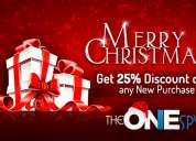 Christmas offer - 25% off on theonespy products
