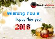 Raindrop wishes happy new year
