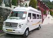 Hire 15 seater tempo traveller on rent