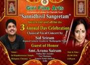 Giri celebrates 3rd annual day of sannithiyil sangeetham