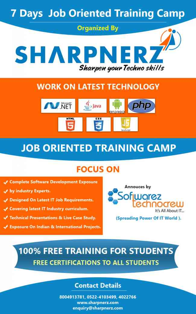 Job Oriented Training with 100 % Placement Guarantee