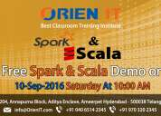 Free spark & scala demo on 10-sep-2016 saturday  at 10:00 am