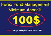 Test our forex trading account management services with minimum deposit : 100$