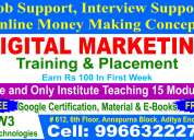 Digitalmarketing training and placements
