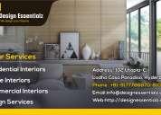 Interior designers & decorators in hyderabad|design essentialz