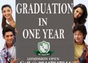Distance & regular education in india   degree in a one year