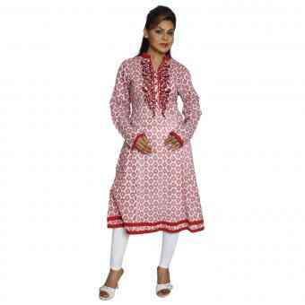 Buy Designer Cotton Printed Kurti Online India