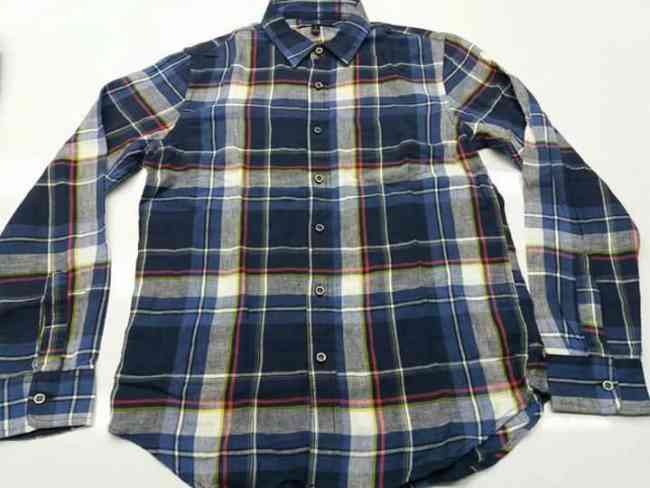 Garment -BABANA REPUBLIC - MEN'S FLANNEL LONG SLEEVE SHIRT -BANGLADESH WAREHOUSE