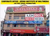 The best multimedia center in coimbatore adoro institute multimedia and under world multimedia assco
