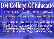 B ed, llb from mdu, ccsu, crsu merath through sdm college of education with areasonable fees
