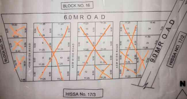 Road Side 2 plots for SALE in SHIVALLI Village near Hebballi
