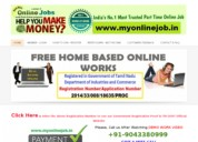 Best and easy online home based part time jobs - govt registered - 9994335409