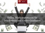 Online work | working from home | part time job