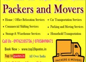 Relocation services quotes top 10 packers & movers