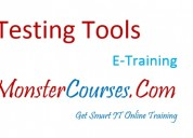 Testing tools online training at monstercourses.