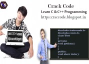 C++ language example