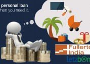 Easy fullerton personal loan at lowest roi through