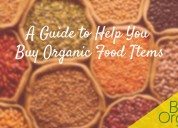 A guide to help you buy organic food items