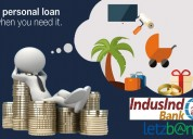 Avail indusind bank personal loan at lowest roi th