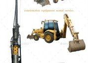 Construction equipment rental company in india