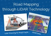 Road mapping through lidar technology