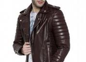 Biker jacket | brown leather jacket