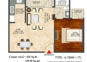 1bhk ready to move flats at 25 lacs in ghaziabad