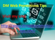 Dm web promotions tips