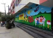 Kids cartoon wall art painting in kukatpally
