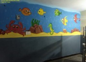 Pre-primary school wall art painting in hyderabad