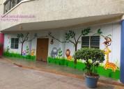 Kindergarten school wall painting in hyderabad
