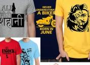 buy men cotton graphic printed half sleeve t-shirt