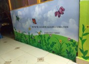 Indor classroom wall painting in hyderabad