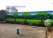 Excellent kids wall decoration painting in hyderab