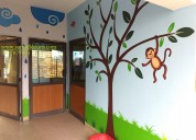 Childrens cartoon wall painting in hyderabad