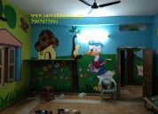 Gorgeous kids art wall painting in hyderabad