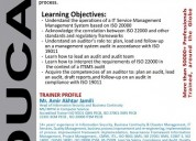 Iso 22000 lead auditor course in pakistan - food s