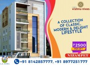 Flats for sale in hyderabad, nizampet