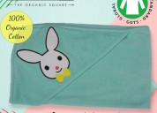 Kural 33, 100% organic baby hood , hooded towel ,