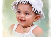 Kids portraits - digital portrait painting service