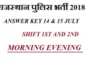 Rajasthan police constable official answer key 201