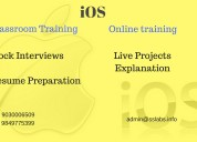 Ios training in hyderabad with project