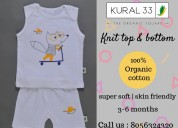 Kural 33 , organic knit top and bottom