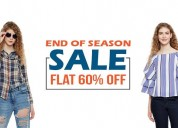 End of season sale - flat 60% off on oxolloxo