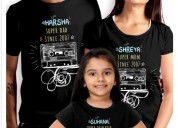Buy matching family t shirts online in india