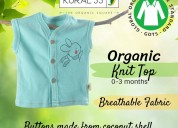 Organic baby top, ecofriendly packaging, baby top,