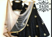 Libas fashion black color designer lehenga