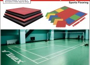 Sports flooring, badminton flooring, rubber tiles